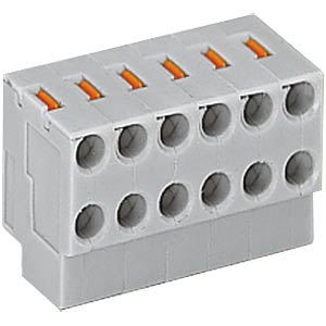 2-conductor pillar terminal block, RM 3.5 mm, 2 x 2-pin WAGO 252-102