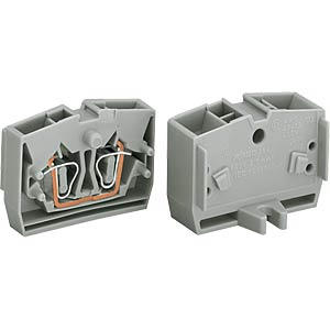 2-conductor centre terminal, up to 2.5 mm², or WAGO 264-326