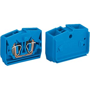 4-conductor end terminal with flange, up to 2.5 mm², bl WAGO 264-334