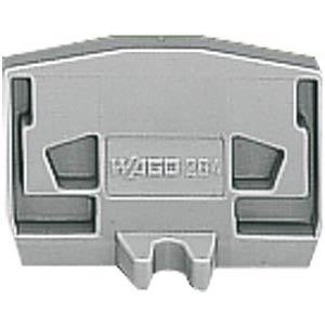 Abschlussplatte mit Flansch, gr WAGO 264-361