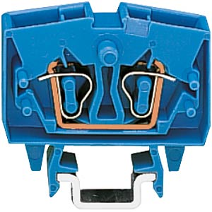 2-conductor mini feed-through terminal for TS15, up to 2.5 mm², WAGO 264-704