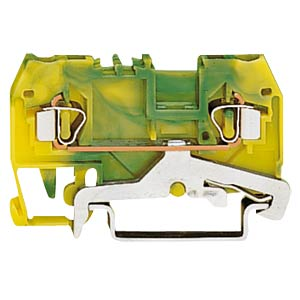 2-conductor feed-through terminal, green/yellow WAGO 280-907