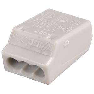 Plug-in terminal, 3-way, for Ø=0.75 - 1.5 mm² WAGO 273-100
