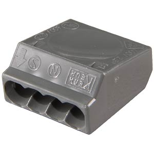 Plug-in terminal, 4-way, for Ø=1.0 - 2.5 mm² WAGO 273-102