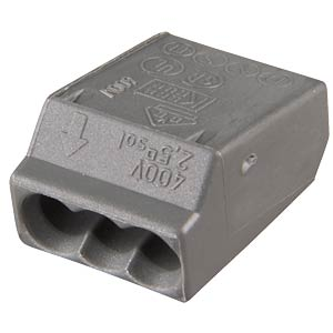 Plug-in terminal, 3-way, for Ø=1.0 - 2.5 mm² WAGO 273-104