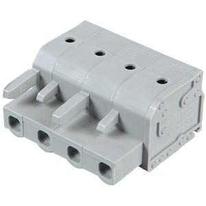 Female multi-point connector with operating push buttons, 4-pin, WAGO 2231-204/026-000