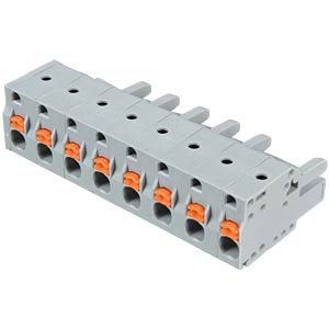 Female multi-point connector with operating push buttons, 8-pin, WAGO 2231-208/026-000