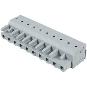 Female multi-point connector with operating push buttons, 10-pin WAGO 2231-210/026-000