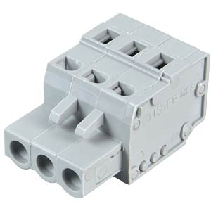 Female multipoint connector, 3-pin, RM 5.0 mm WAGO 231-103/026-000