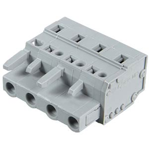 Female multipoint connector, 4-pin, RM 7.5 mm WAGO 231-204/026-000