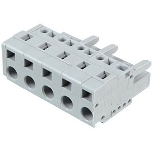 Female multipoint connector, 5-pin, RM 7.5 mm WAGO 231-205/026-000