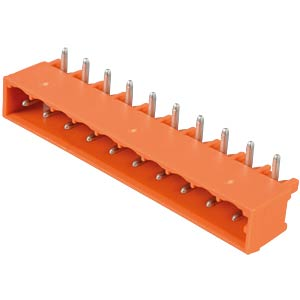 Print-pin connector, MIDI, RM 5.08, angled, 10-pin. WAGO 231-540/001-000