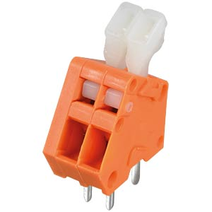 Terminal strip, RM 2.54, opening lever, 2-pin WAGO 233-502