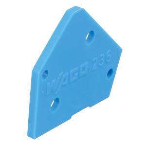 End plate, blue WAGO 236-400