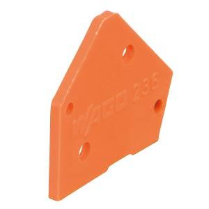 Abschlussplatte orange WAGO 236-600