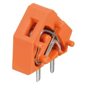 Leiterplattenklemme, anreihbar, RM 5,08, orange WAGO 236-746