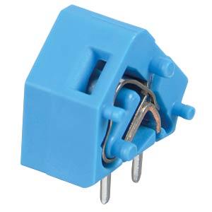 Leiterplattenklemme, anreihbar, RM 7,62, blau WAGO 236-754