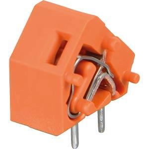 Leiterplattenklemme, anreihbar, RM 7,62, orange WAGO 236-756