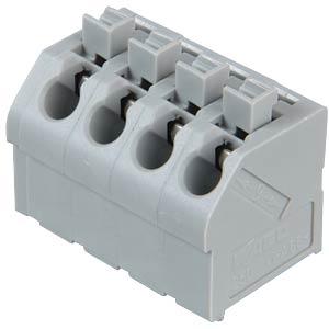 Klemmleiste mit Betätigungsdrückern, RM 5,0 mm, 17,5A, 4-pol WAGO 250-504