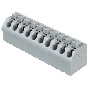 Terminal strip with operating push buttons, RM 5.0 mm, 17.5A, 10 WAGO 250-510