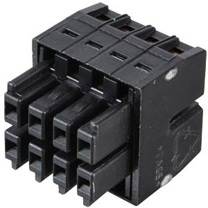 WAGO MINI HD, female multi-point connector, 2x4-pin, RM 3.5 WAGO 713-1104