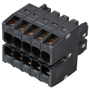 WAGO MINI HD, female multi-point connector, 2x5-pin, RM 3.5 WAGO 713-1105