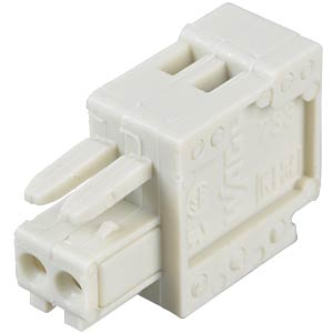 CAGE-CLAMP female multi-point connector, micro, RM 2.5, 2-pin WAGO 733-102