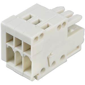 CAGE-CLAMP female multi-point connector, micro, RM 2.5, 3-pin WAGO 733-103