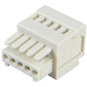 CAGE-CLAMP female multi-point connector, micro, RM 2.5, 5-pin WAGO 733-105