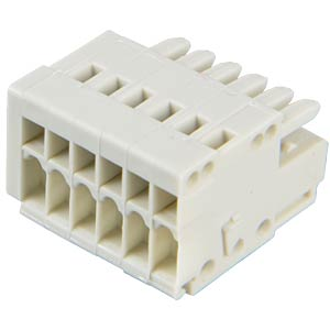 CAGE-CLAMP female multi-point connector, micro, RM 2.5, 6-pin WAGO 733-106