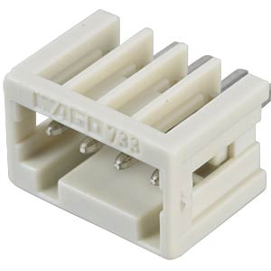 Print pin header, micro, RM 2.5, straight, 4-pin WAGO 733-334