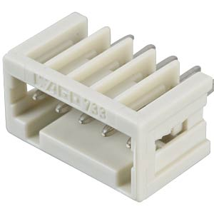 Print pin header, micro, RM 2.5, straight, 5-pin WAGO 733-335