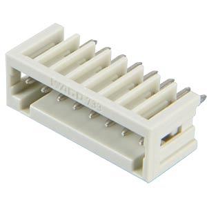 Print pin header, micro, RM 2.5, straight, 8-pin WAGO 733-338