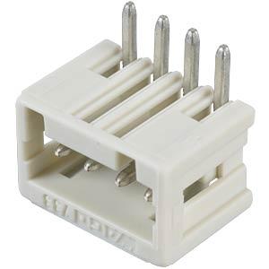 Print pin header, micro, RM 2.5, angled, 4-pin WAGO 733-364