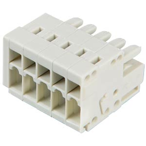 CAGE-CLAMP female multi-point connector, mini, RM 3.5, 5-pin WAGO 734-105