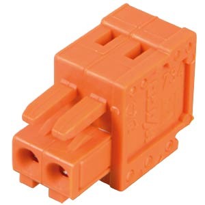 CAGE-CLAMP female multi-point connector, mini, RM 3.81, 2-pin WAGO 734-202