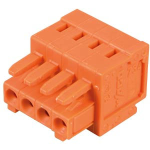 CAGE-CLAMP female multi-point connector, mini, RM 3.81, 4-pin WAGO 734-204