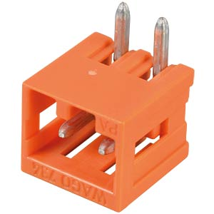 Print pin header, mini, RM 3.81, angled, 2-pin WAGO 734-262