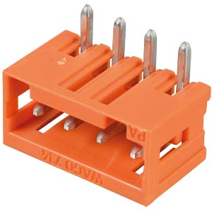 Print pin header, mini, RM 3.81, angled, 4-pin WAGO 734-264