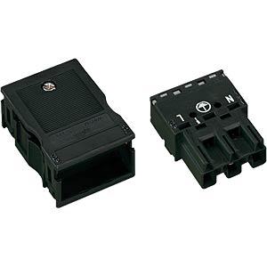 WINSTA® MIDI, 3-pin plug, with strain relief housing WAGO 770-113