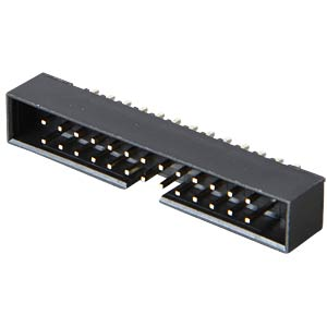 2x13pin box power strip, straight, RM 2.00 FREI