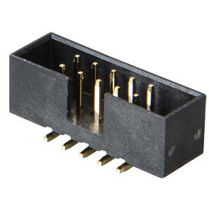 SMD box connector, 10-pin, straight, gold plated FREI