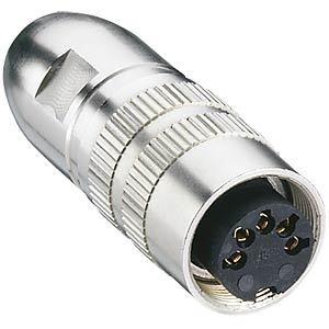 Coupler, round connector, IP 68, 360°, shielded, 8-pin LUMBERG 0322 08