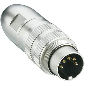 Plug, round connector, IP 68, 360°, shielded, 4-pin LUMBERG 18912