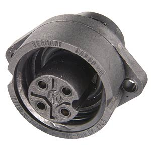 3-pin +PE surface-mounted socket with flange BELDEN 932-321-100