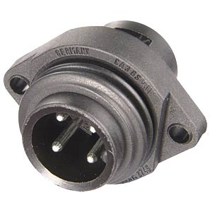 6-pin +PE surface-mounted plug with flange BELDEN CA 6 GS