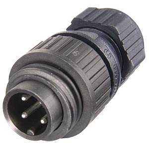6-pin +PE mains plug, straight BELDEN 934-126-100
