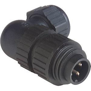 3-pin +PE mains plug, angled BELDEN CA 3 W LS