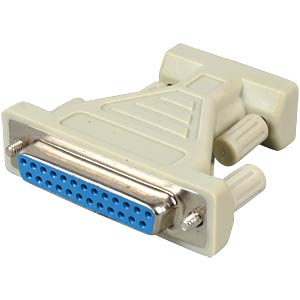 D-Sub-Adapter, 9-pol.-Stecker - 25-pol.-Buchse FREI