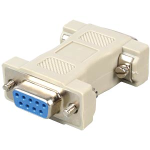 D-Sub adapter, 15-pin. HD/9-pin, ST/BU FREI